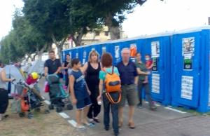 מחאת האוהלים - השירותים